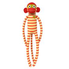 Gold Stripes Sock Monkey Plush Toy