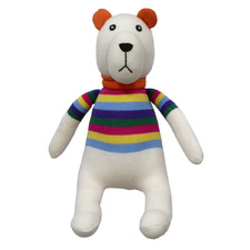 Rainbow Stripes Gummy Bear Plush Toy
