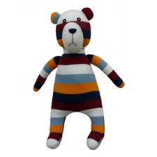 Striped Rocco The Bear Plush Toy