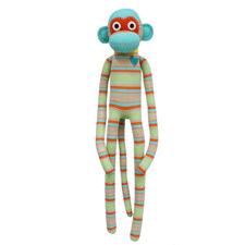 Sage Stripes Sock Monkey Plush Toy