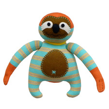Striped Francis The Sloth Plush Toy
