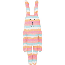 Extra Tall Striped Rab The Bunny Plush Toy