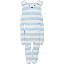 Blue Striped Bear Plush Toy