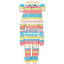 Tall Striped Ian The Monkey Plush Toy