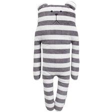 Grey Striped Bear Plush Toy
