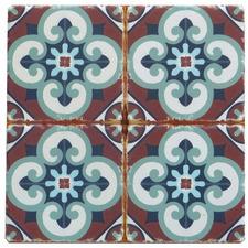 Brown & Green Square Ceramic Trivet