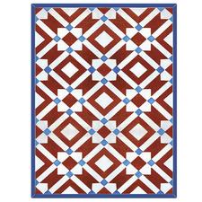 Currant & Blue Marsala Floor Mat