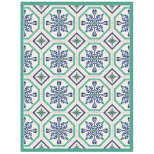 Blue & Green Panarea Floor Mat