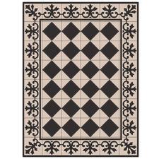Black & Cream Liberty Floor Mat