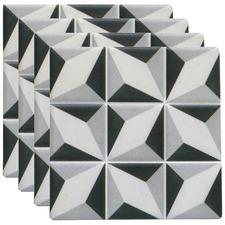 Black & Grey Bane Ceramic Coasters (Set of 4)