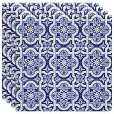 Blue Odette Ceramic Coasters (Set of 4)