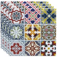 Multi-Coloured Masha Ceramic Coasters (Set of 4)