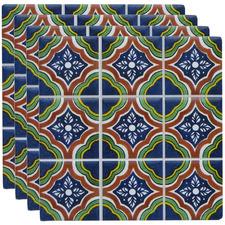 Blue & Green Claude Ceramic Coasters (Set of 4)