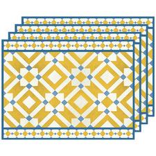 Yellow & Blue Marsala Placemats (Set of 4)