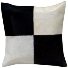Four Panel Cowhide Cushion with Insert