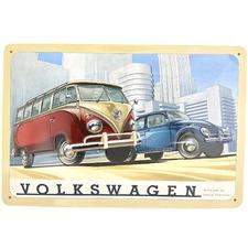 Industry Scenery Volkswagen Bus & Beetle Wall Sign