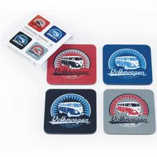 4 Piece Vintage Logo Volkswagen Cork Coasters