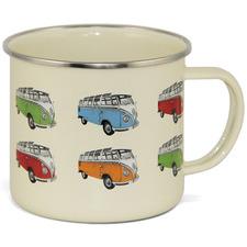 Beige Parade Volkswagen Bus 500ml Aluminium Mug