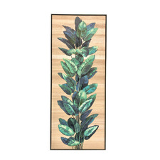 Tropical Leaves Framed Wooden Wall Art