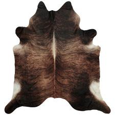 Dark Brown Olin Natural Cowhide Rug
