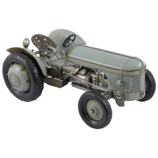 Grey Massey Ferguson Tractor Metal Ornament