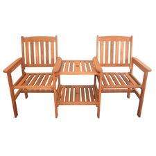 Botany Hardwood Double Chair