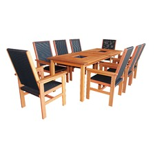 Murray 9 Piece Outdoor Set with 2 Drink Trays