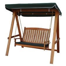Rivers 2 Seat Hardwood Swing with Canopy and Cushion