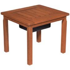 Clyde Shorea Timber Outdoor End Table