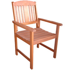 Clyde Shorea Wood Outdoor Dining Chair
