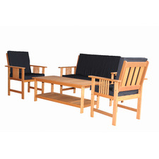 4 Seater Natural Avoca Outdoor Lounge Set