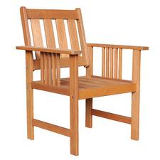 Natural Avoca Wood Outdoor Armchair