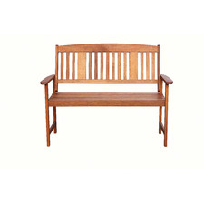 Clyde 2 Seater Shorea Wood Outdoor Bench
