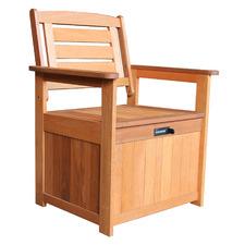 Lockt Wooden Outdoor Armchair with Lockable Storage Seat