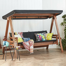 Rivers 3 Seater Swing Sofa Bed with Canopy