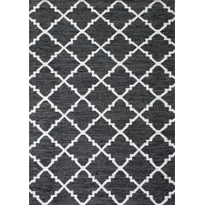 Black & White Le Kef Handmade Rug
