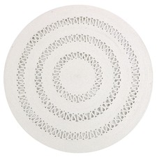 White Dotti Cotton Round Rug