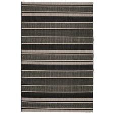 Black Stripe Essenza Indoor Outdoor Rug