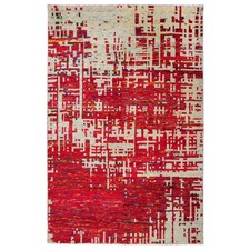 Red Daydream Modern Rug