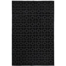 Black Colporin Pure Wool Rug