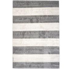 Grey & Off White Plaza Modern Stripe Rug