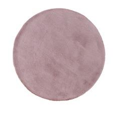 Blush Poly Round Rug