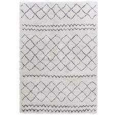 Light Grey Diamond Style Moroccan Rug