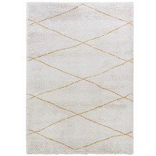 Beige Diamond Pattern Moroccan Rug