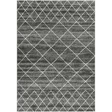 Charcoal Cascade Area Rug