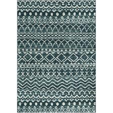 Blue Cascade Tribal-Style Rug