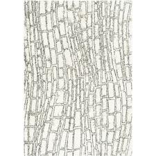 Ivory & Charcoal Cascade Contemporary Rug