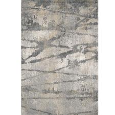 Grey Lalique Power-Loomed Modern Rug