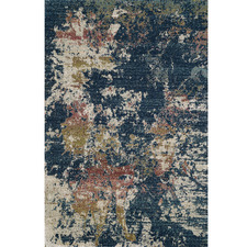 Navy Matisse Modern Power-Loomed Rug