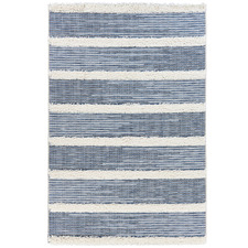 Denim & Cream Navajo Aztec Rug